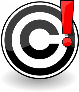 Copyright Media Warning Exclamation Point Image