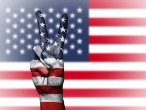 Image: American Flag with Peace Sign