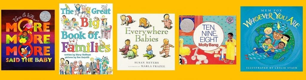 Book Jackets: More, More, More, Said the Baby; The Big Book of Famiies, Everywhere Babies, Ten, Nine, Eight, and Whoever You Are