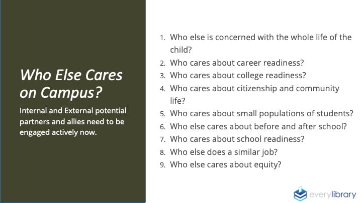 Who Else Cares on Campus? Slide from John Chrastka