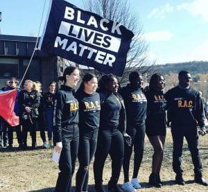 Black Lives Matter Flag Raising, 4/4/2019Photo: @cvu_library on Instagram