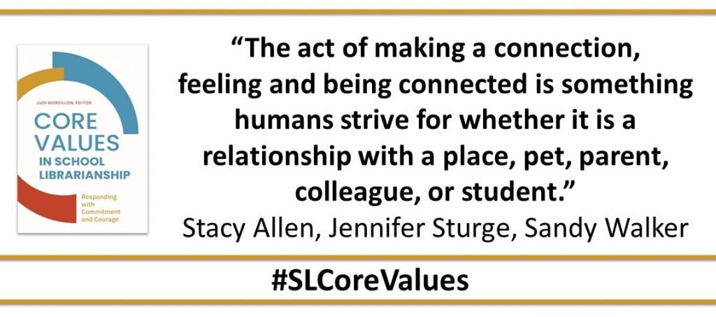 """""""The act of making a connection, feeling and being connected is something humans strive for whether it is a relationship with a place, pet, parent, colleague, or student."""""""